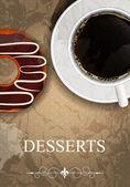 Carte des desserts vector — Vecteur
