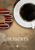 Vektor dessertmeny — Stockvektor