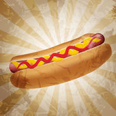 Realistic hot dog vector illustration — Stock Vector