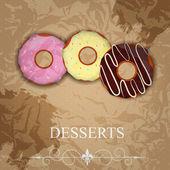 Vector dessert menu — Stock Vector