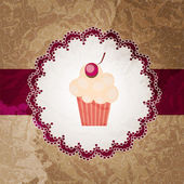 Cupcake invitation background — Stock Vector