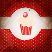 Cupcake invitation background — Stock Vector