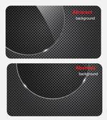 Eps10, brochure carte de visite bannière verre métal abstrait arr.plans — Vecteur