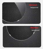 Eps10, folheto cartão bandeira vidro metal abstrato backgr — Vetorial Stock