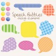 Set of different speech bubbles, design elements — Stock Vector