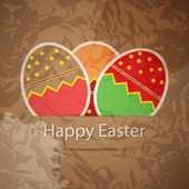 Easter eggs card with colourful eggs. vector illustration — Stock Vector
