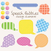 Set of different speech bubbles, design elements — Stok Vektör