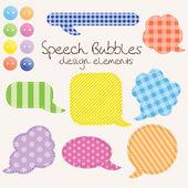 Conjunto de burbujas de discurso diferente, elementos de diseño — Vector de stock