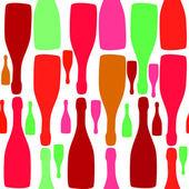 Vector fondo con botellas. buena para el menú de restaurante o bar — Vector de stock