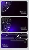 Busitess card templates with Circuit board — Stock Vector