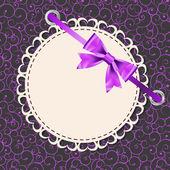 Vektor gratulationskort med ram och böja. utrymme för din text eller — Stockvektor