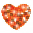 Royalty-Free Stock Imagem Vetorial: Red valentine heart. vector illustration