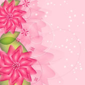 Romantic Flower vector Background — Vector de stock