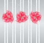Romantic Flower vector Background — Stock Vector