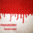 Fresh Strawberry background, Vector Illustration — Vettoriali Stock