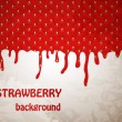 Fresh Strawberry background, Vector Illustration — Векторная иллюстрация
