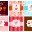 The concept of cupcakes cafe menu. Vector illustration — Stock Vector