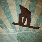 Snowboarding vector — Stock Vector