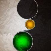 Abstrakt bakgrund med glaskulor som vektor pratbubbla — Stockvektor
