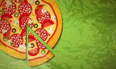 Pizza. vector illustration — Stock Vector
