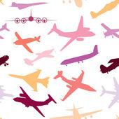 самолет, самолет, самолет пролетел вектор бесшовные путешествия транспортиров — Cтоковый вектор