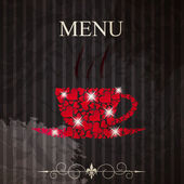 The concept of Restaurant menu on valentines day. Vector illustr — 图库矢量图片