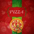 PizzMenu Template, vector illustration — ストックベクター #21310697