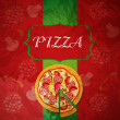 Cтоковый вектор: PizzMenu Template, vector illustration