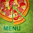 Vector de stock : PizzMenu Template, vector illustration