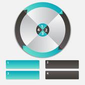 Concept de bannières colorées de circulaires avec des flèches pour différent b — Vecteur