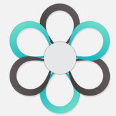 Concept of colorful circular banners in flower form for differen — Stockvector
