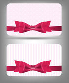 Card with bow and ribbon. Vector illustration — Stock Vector