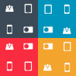Set of icon for Infographic template design vector illustration — Stok Vektör #23830737