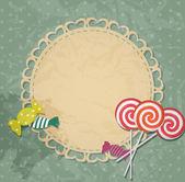 Tarjeta de regalo con elementos de diseño de caramelo. ilustración vectorial — Vector de stock