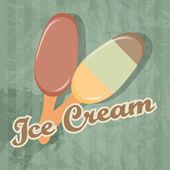 Fondo retro helado. ilustración vectorial — Vector de stock