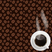 Abstract coffee background vector illustration — Stock Vector
