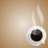 Abstrakte kaffee-hintergrund-vektor-illustration — Stockvektor