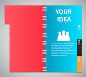 Infographic template design vector illustration — Stock Vector