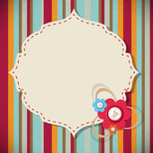 Frame in retro vintage background. Vector illustration. — Stock Vector