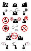 Human management icons set. Vector illustration — Stock Vector