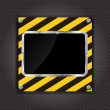 Glossy black plate on a cunstruction background  — Векторная иллюстрация