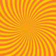 Orange hypnotic background. Vector illustration — Stock Vector