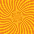 Stock Vector: Orange hypnotic background. Vector illustration