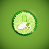 Herbal pill Environment background vector illustration — Stock Vector