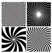 Black and white hypnotic background. — Stock Vector