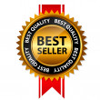Stockvektor : Vector best seller gold sign, label template