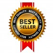 Vector best seller gold sign, label template — ストックベクター #26393997