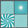 Retro vintage hypnotic background. — Stock Vector #26440709
