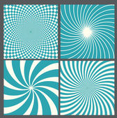 Retro vintage hypnotic background. — Stock Vector