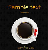 Coffee invitation background vector illustration — Stock Vector
